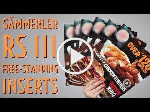 Gämmerler RS 111: Free Standing Inserts