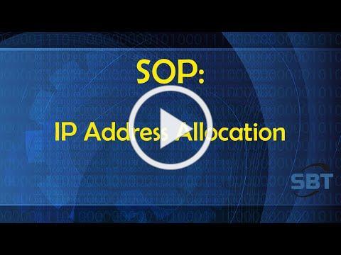 SOP: IP Address Allocation