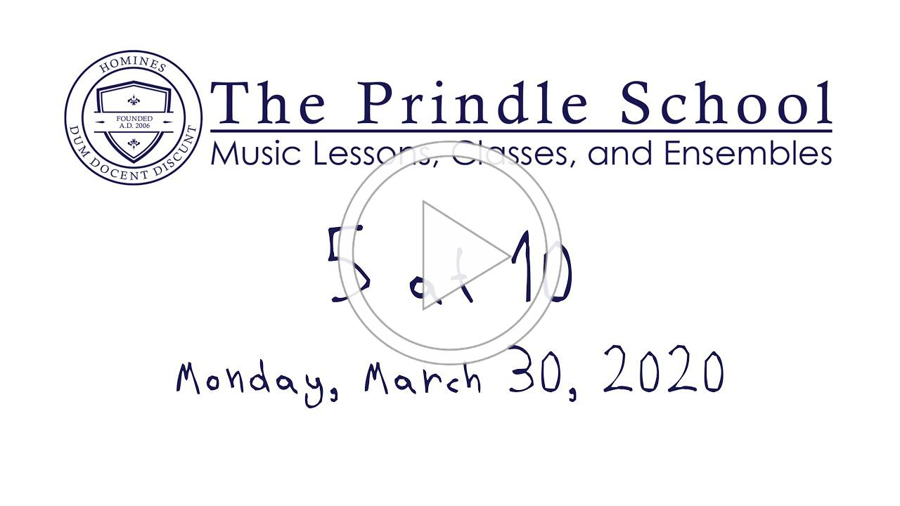 5 at 10: Monday, March 30, 2020
