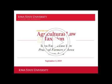 Farm Lease Law - Farminar