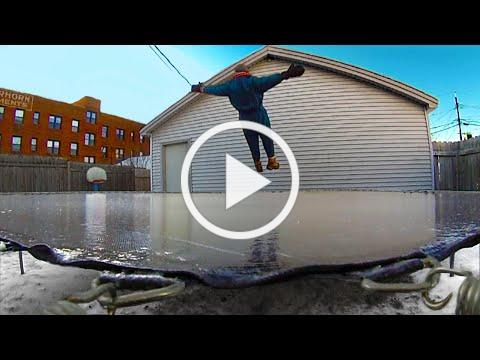 Frozen Trampoline - Minnesota Cold (Part 13 - TAKE 1)