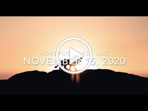 November 15, 2020 worship at Norcross First UMC