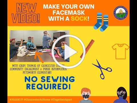 MAKE YOUR OWN FACEMASK WITH A SOCK!