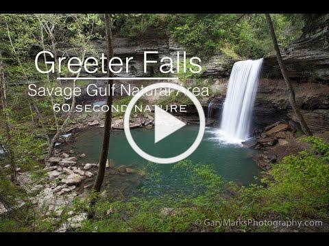 Greeter Falls - Savage Gulf State Natural Area - Tennessee Waterfalls (60 Second Nature Series)