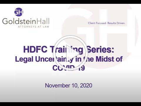 HDFC Training Series - Legal Uncertainty in the Midst of COVID-19
