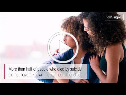 Suicide Rising Across the U.S., June, Vital Signs