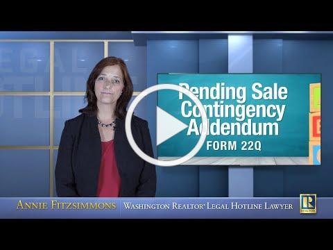 Pending Sale Contingency Addendum - Form 22Q