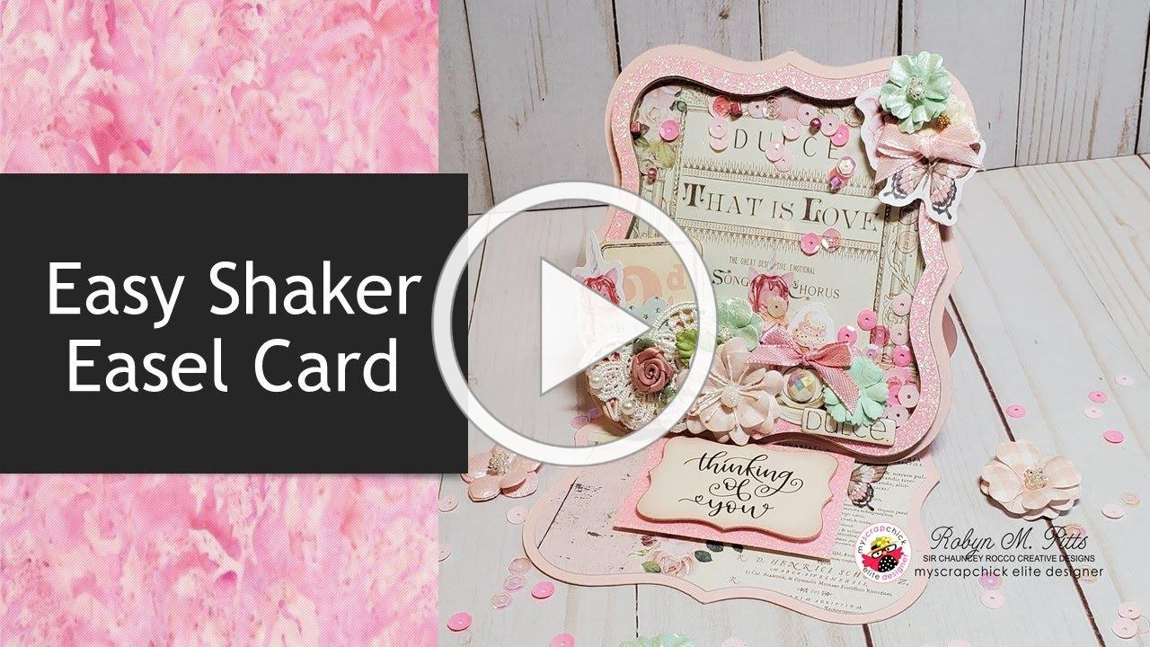 Easy Shaker Easel Card Tutorial | MYSCRAPCHICK/ASCCRAFTSUPPLIES DT Project