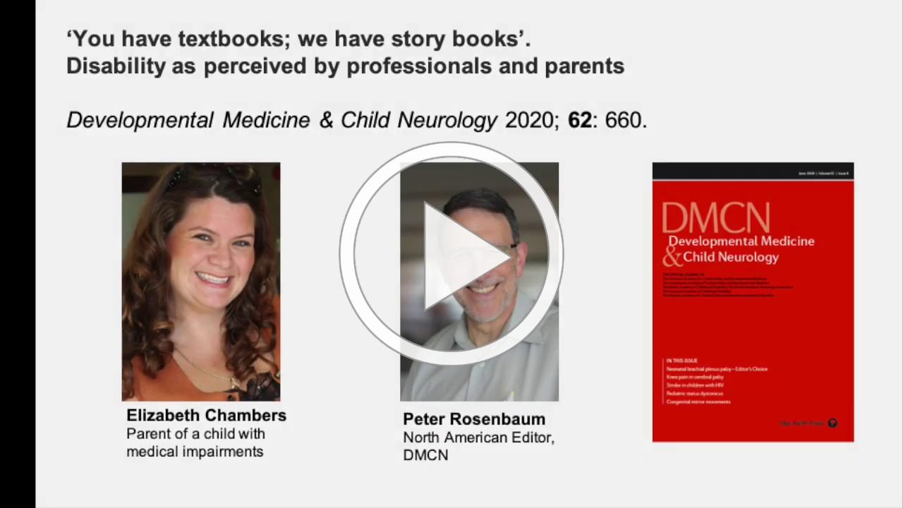 'You have Textbooks; we have Story Books' in Childhood Disability   Chambers & Rosenbaum   DMCN