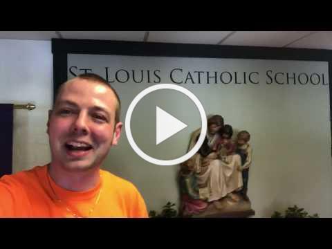 Mr. Peace Visits St. Louis Catholic School in Alexandria, Virginia