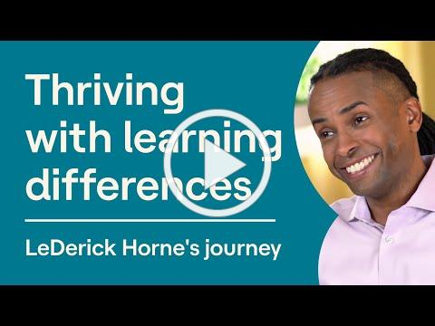LeDerick Horne on Growing Up With Learning and Thinking Differences
