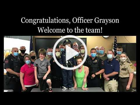 Honorary Police Officer Grayson Johnson