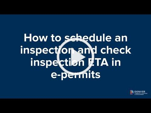 How to schedule an inspection and check ETA in e-permits