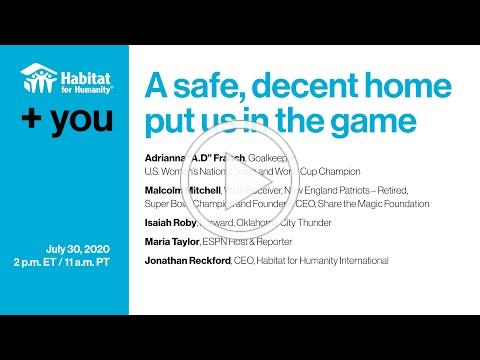 +You: A safe, decent home put us in the game