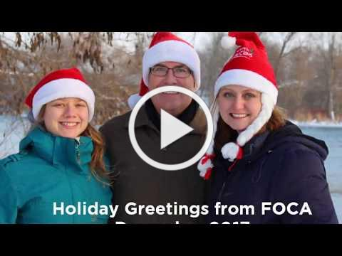Happy Holidays - a greeting from FOCA, December 2017