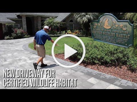 New Driveway for Certified Wildlife Habitat