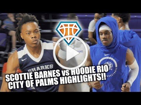 Scottie Barnes TRIPLE DOUBLE vs HOODIE RIO at City of Palms!! | USchool Chasing the REPEAT