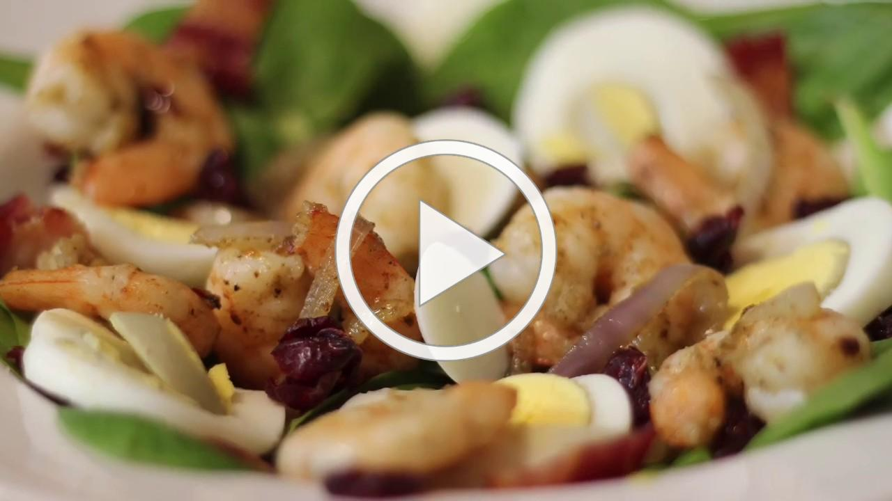 Warm Spinach & Shrimp Salad