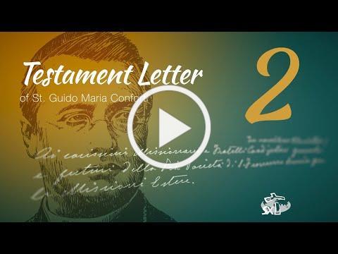 Episode 2: Testament Letter of St Guido Maria Conforti