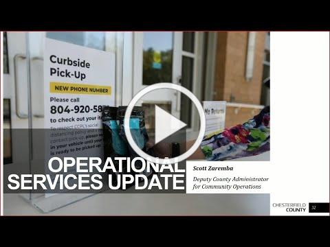 Board of Supervisors 5/27/20 Operational Services Update on COVID-19