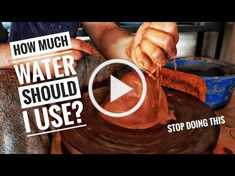 How much water should I use on my clay? pottery lesson