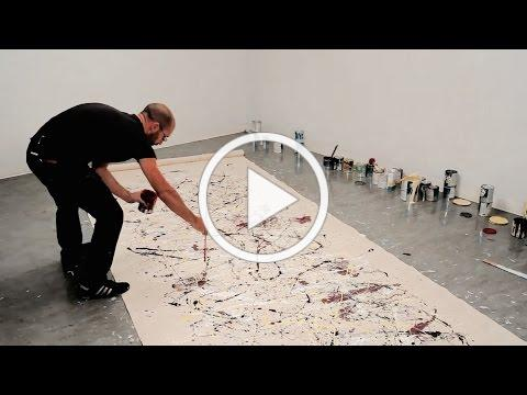 How to paint like Jackson Pollock - One: Number 31, 1950 - with Corey D'Augustine | IN THE STUDIO