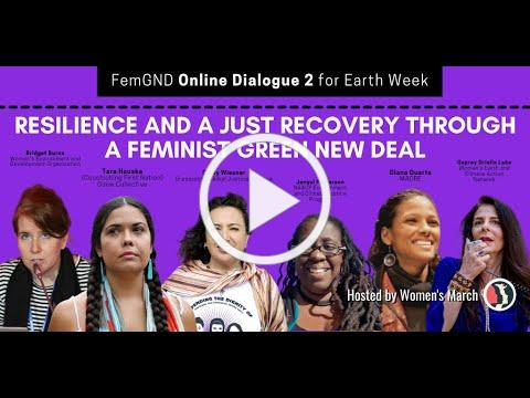 Resilience and a Just Recovery Through a Feminist Green New Deal (webinar)