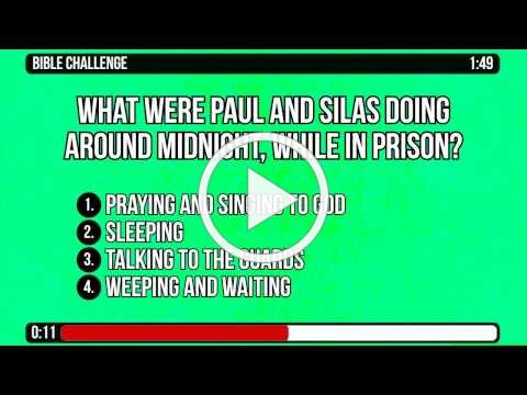 Acts 16 16 to 40 Bible Trivia Countdown Video