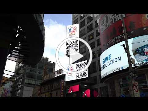American Football Times Square Giving Tuesday Billboard