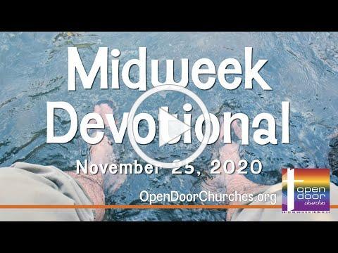 Open Door Churches Midweek Devotional by Pastor Kalina - 11-25-20