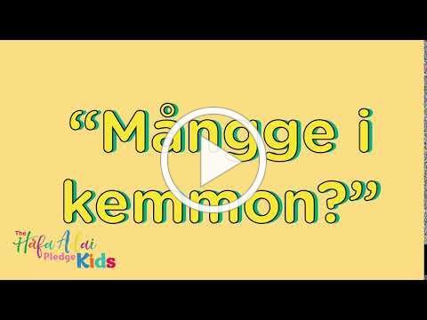 Håfa Adai Pledge Kids: Speak CHamoru September