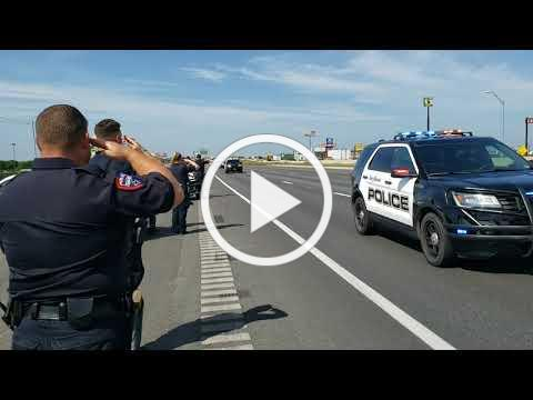 San Marcos Police Officer Justin Putnam Procession