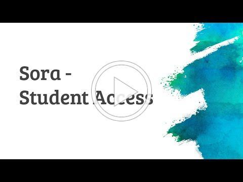 Sora - Student Access