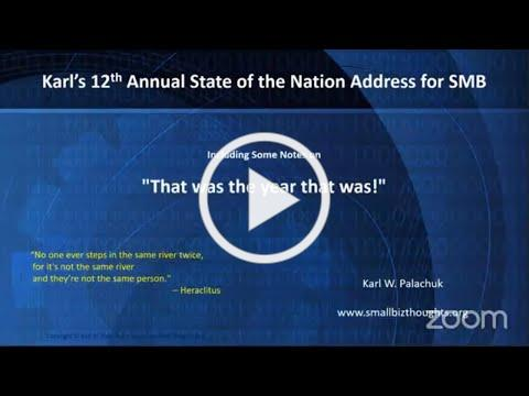 Karl Palachuk's 12th Annual (2021) State of the Nation Address for SMB IT