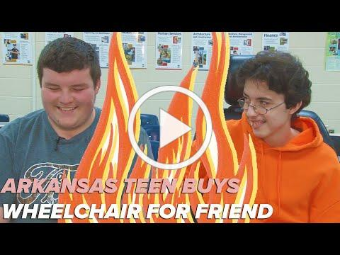 Teen buys wheelchair for friend with his own money