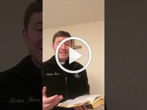 Message from Father James Peterson - Thursday, January 28, 2021