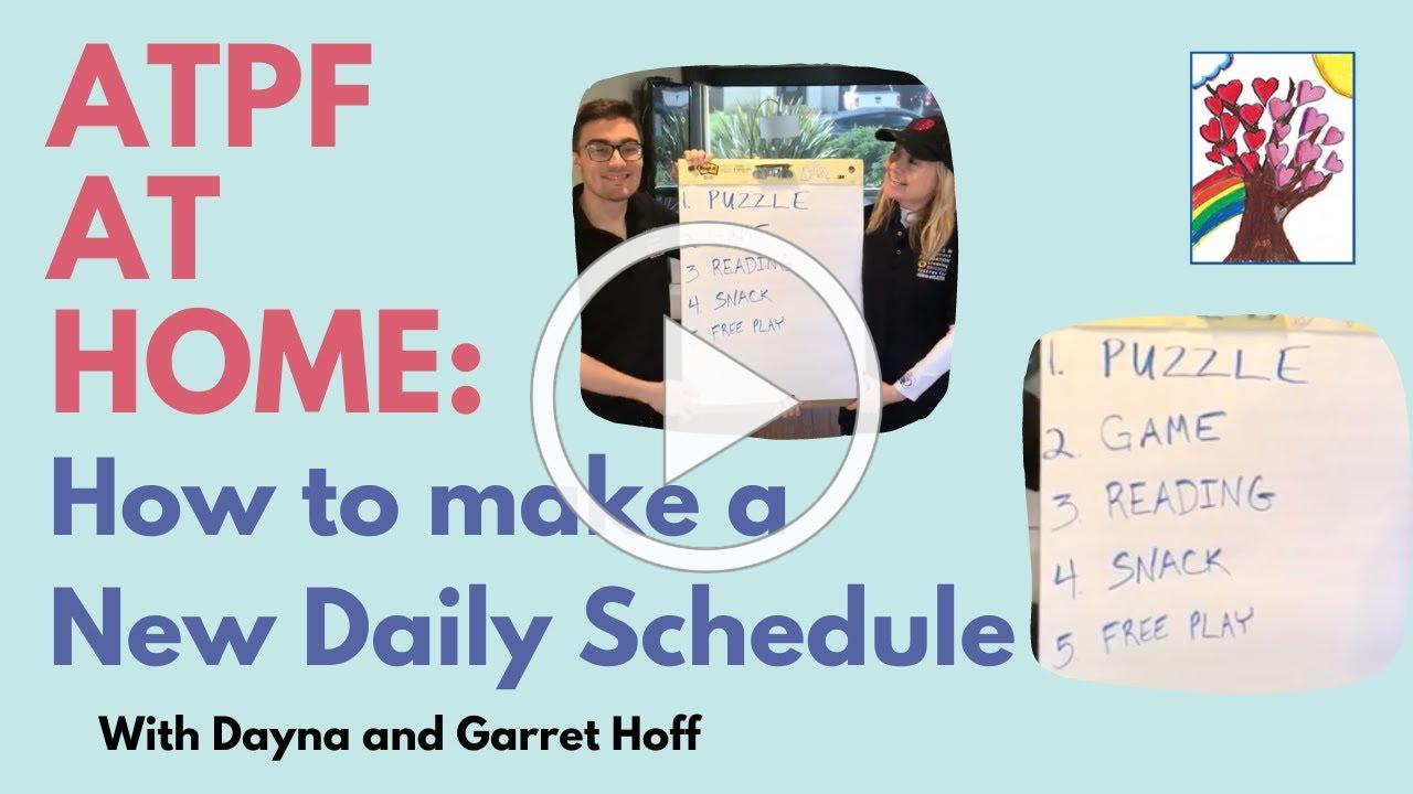 ATPF Tips: Dayna & Garret Hoff Show How To Make A New Daily Schedule