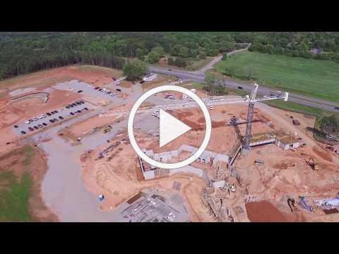 Presbyterian Homes Construction Site Drone Flyover- Spring 2019