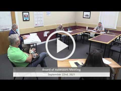 2021-09 22 WB Board of Assessors Mtg