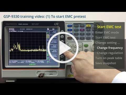 GW Instek - GSP 9330 training video 1 To start EMC pretest