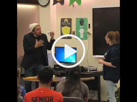 Deaf Magician Sammy Ruiz does card trick in American Sign Language