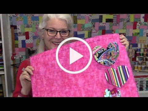 Quick and Easy Valentines Project using the Echo Quilting Foot