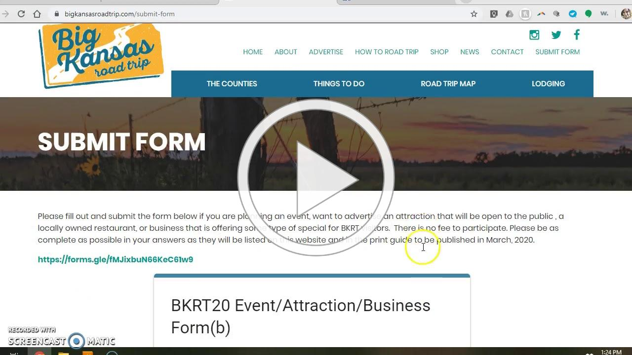 How to submit your event for the Big Kansas Road Trip 2020