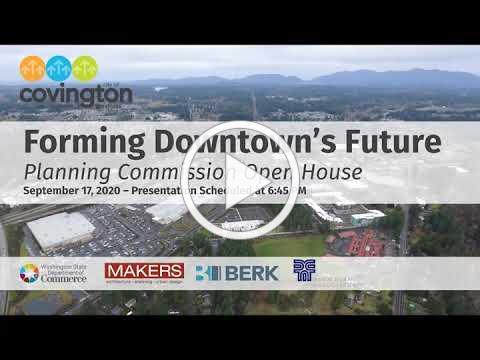 Forming Downtown Covington's Future: Presentation 9/17/20