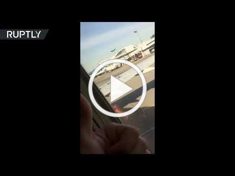 Boeing 737 engine catches fire just before takeoff in Moscow