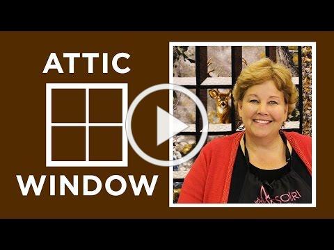 Make an Attic Windows Quilt with Jenny Doan of Missouri Star! (Video Tutorial)
