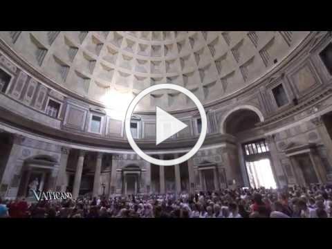 VATICANO - Pentecost - A shower of Roses