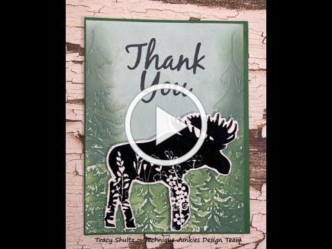 Floral Moose - Technique Junkies Design Team Video