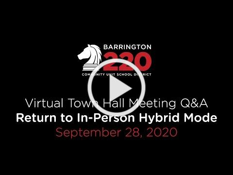 Return to In-Person Hybrid Town Hall Q&A