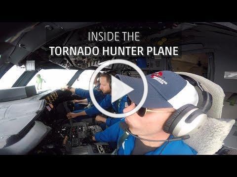 Inside The Tornado Hunter Plane